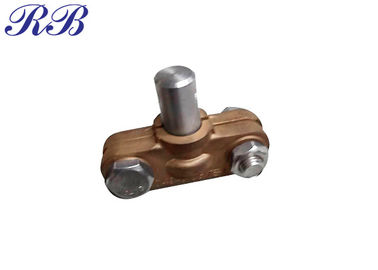 Natural Copper Alloy Casting Fasteners And Fittings Ground Connector Clip CT7-CT8