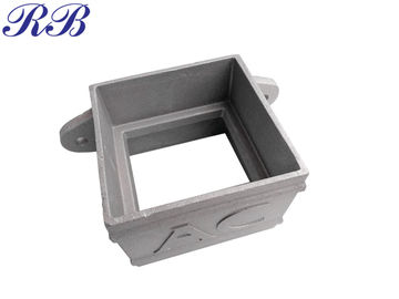 China Powder Coated Cast Aluminum Gutters Rainwater System Downpipe Square Socket supplier