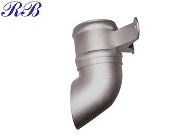 China 0.5 Kg Cast Aluminium Guttering / Customzied Downpipe Shoe 135° With Lugs supplier