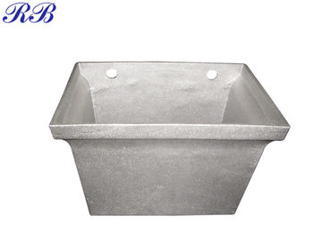 Sand Casting Aluminum Gutter Fittings / Square Hopper Head Easy To Install